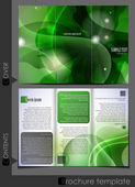 Green template for advertising brochure. — Stock Vector