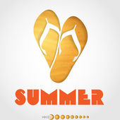 Summer slipper. — Stock Vector