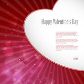 Valentine's day or Wedding background. — Stock Vector
