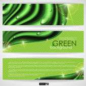 Eco green background. — Stock Vector