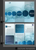 Bubble brochure design template. — Stock Vector