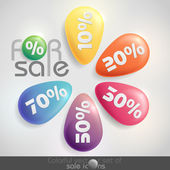 Sale buttons with discount. — Stock Vector