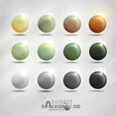 Colorful round buttons. — Stock Vector