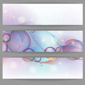 Colorful Glowing Bubbles Banner. — Stock Vector