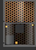 Metallic Texture Seamless Pattern. — Stock Vector