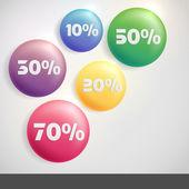 продажа кнопки со скидкой. — Cтоковый вектор