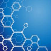 Molecule Abstract Background. — Stock Vector