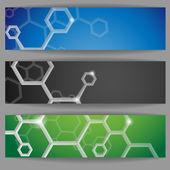 Molecule Abstract Banner. — Stock Vector
