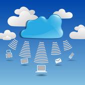 Cloud Сomputing Сoncept. — 图库矢量图片