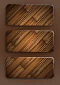 Banner de textura de madera. — Vector de stock