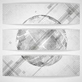 Gray Globe Design. — Stock Vector