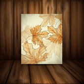 Hand Drawn Autumn Background. — Stok Vektör