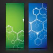 Molecule Abstract Banner. — 图库矢量图片