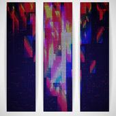 Banner geométrica abstracta. — Vector de stock