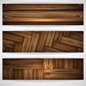Wooden texture banner. — Stok Vektör