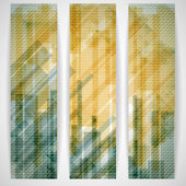 Abstract Yellow Rectangle Shapes Banner. — Stock Vector