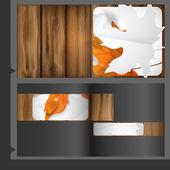 Modello di progettazione brochure. — Vettoriale Stock