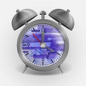 Metal Classic Style Alarm Clock. — Stock Vector