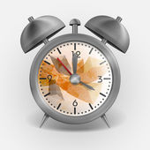 Metal Classic Style Alarm Clock. — Stockvector