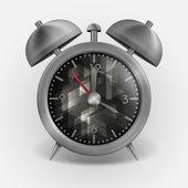 金属の古典的なスタイルの目覚まし時計. — ストックベクタ