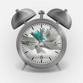 Metall klassisk stil väckarklocka. — Stockvektor