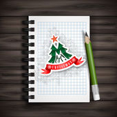 Christmas And New Year Symbols. — Stock Vector