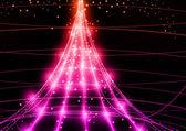 Fond de technologie de néon. — Vecteur