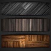 Wooden texture banner. — Stock Vector