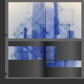 Broschüre-Template-design. — Stockvektor