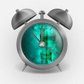 Metal Classic Style Alarm Clock. — Vecteur