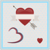 幸せなバレンタインデーの 3 d. — ストックベクタ