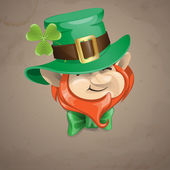 St Patrick's Day Leprechaun Face. — Stockvektor