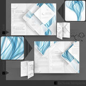 Business Brochure Template Design — Stock Vector