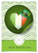 Irish Flag In The Shape Of A Heart. — Stock Vector