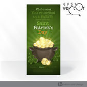 St. Patrick's Day. Pot Of Gold. — Stock Vector