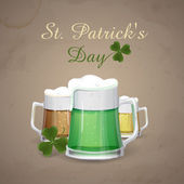 Mug Of Green Beer For St Patrick's Day. — Stok Vektör