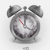 металлический классический стиль будильник. — Cтоковый вектор