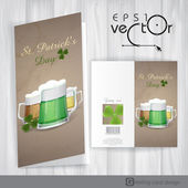 Mug Of Green Beer For St Patrick's Day. — Stock Vector