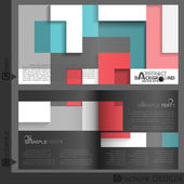 Brochure Template Design. — Stock vektor