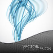 Abstract Blue Wavy Background. — Vecteur