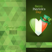 Patrick's Day. Irish Flag In The Shape Of A Heart — Vecteur