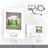 Mug Of Green Beer For St Patrick's Day. — Stock vektor