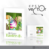 Easter Background With Eggs In Grass. — Stock vektor