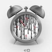 Metal Classic Style Alarm Clock. — Vettoriale Stock