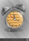 Metal Classic Style Alarm Clock. — Wektor stockowy