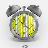 Metal Classic Style Alarm Clock. — Stok Vektör