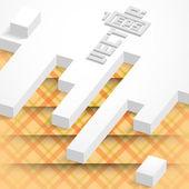 Abstracte geometrische ontwerp. — Stockvector