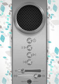 Abstract Speaker Concept Design. — Stock Vector