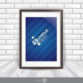Fotoframe op de muur — Stockvector