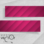 Abstract Banners With Place For Your Text — Stock Vector